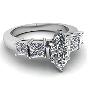 1.40 Ct Marquise Cut Diamond Engagement Ring White VS1-H GIA Certified 14K
