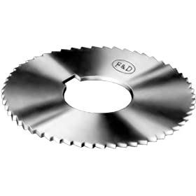 "F&D Tool Company 15133-B835 Screw Slotting Saws, High Speed Steel, 2.75"" Diameter, 0.045"" Width of Face, 3/4"" Hole Size, 17"" Gauge, 72 Number of Teeth"