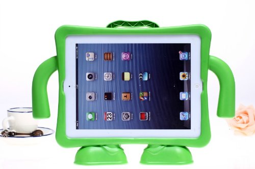 Eastchina® Eva Safety Kids Child Ipad Case, Freestanding Case Handle Stand Cover Case For Ipad 4, 3, 2, Cases,Protective, Durable Kids Ipad Case Covers. New Coverbot Fashion Style Super Light Weight Cute Kids Child Shock Proof Steering Wheel Eva Foam Hand front-63770