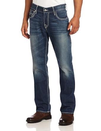 True Religion Men's Ricky Straight Leg Jean in Monarch, Monarch, 28