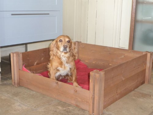 Large FSC Wooden Dog Whelping Box (120x120x30cm)