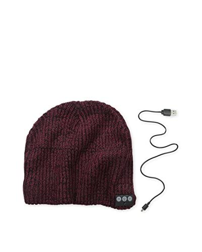 1 Voice Men's Bluetooth Beanie, Black/Burgundy