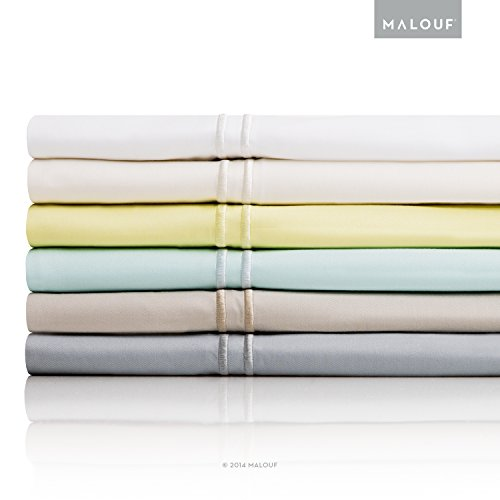 Malouf Fine Linens Rayon From Bamboo King Bed Sheet Set, Citron, 4-Pc front-899886