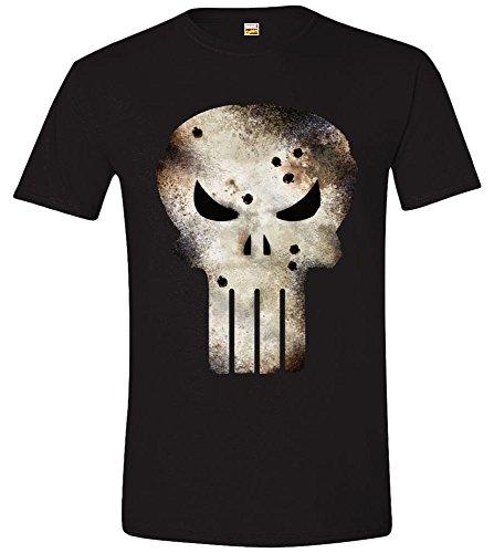 Marvel - Punisher Shot, T-shirt da uomo, nero (noir), XL