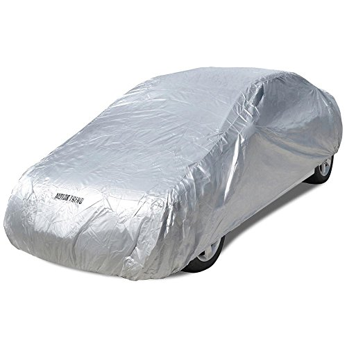 Motor Trend All Season WeatherWear 1-Poly Layer Snow proof, Water Resistant Car Cover Size L - Fits up to 190