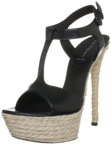 Casadei Women's Black Platform Heels 5 UK