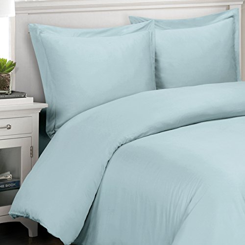 Light Blue 100% Viscose From Bamboo 4Pc Comforter Cover Set = Full/Queen front-1018457