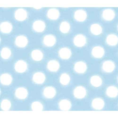 Imperial Disney Home DF059755 Circle Watercolor Wallpaper, Blue, 20.5-Inch Wide