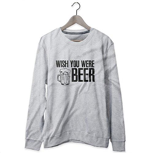 Wish You Were Beer Cool Joke Sweatshirt Felpa Uomo - Express Dispatch - S M L XL XXL sizes