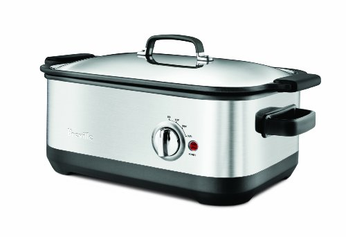 Digital Slow Cookers: Breville BSC560XL Stainless-Steel 7-Quart Slow Cooker with EasySear Insert