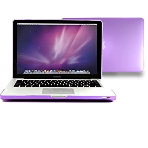"""Macbook Pro 13 Case, GMYLE 2 in 1 - Purple Frosted Matte Rubber Coated Rubberized Hard Case for Apple 13.3"""" Macbook Pro - With TPU Transparent Keyboard Cover (Not Fit For Macbook Pro 13 with Retina Display)"""