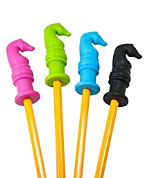 Chewable Pencil Topper - Fun Sensory Motor Aid - Perfect For Autism or ADHD - 4 Pack