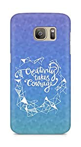 AMEZ creativity takes courage Back Cover For Samsung Galaxy S7 Edge