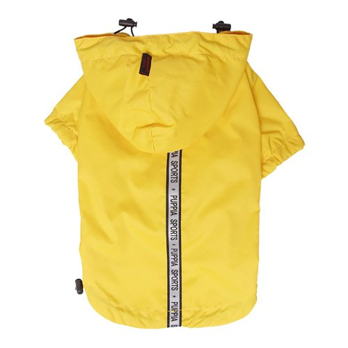 Puppia Authentic Base Jumper Raincoat, Medium, Yellow