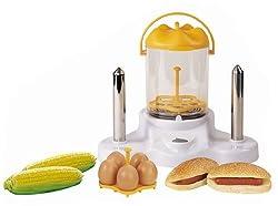 Benison India Hot Dog Maker / Popcorn Maker / Electric Egg Boiler / Steamer - Percfect All-in-One Kitchen Gadget