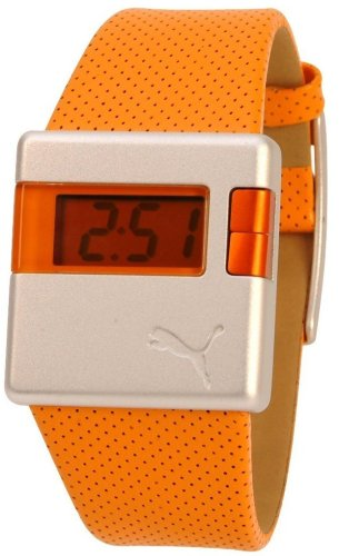 puma-sirius-unisex-orange-leather-strap-and-lcd-dial-watch