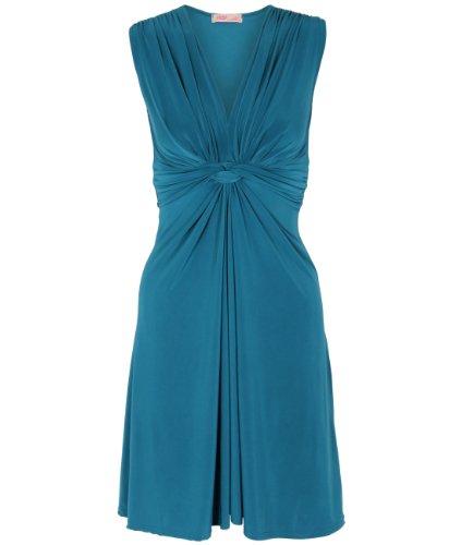 Krisp Summer Dress Women Mini Dress Low Cut V-Neck Plain Polka Dot Flowery Sexy