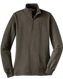 Sport-Tek LST253 Ladies 1/4-Zip Sweatshirt,XXX-Large,Charcoal Heather
