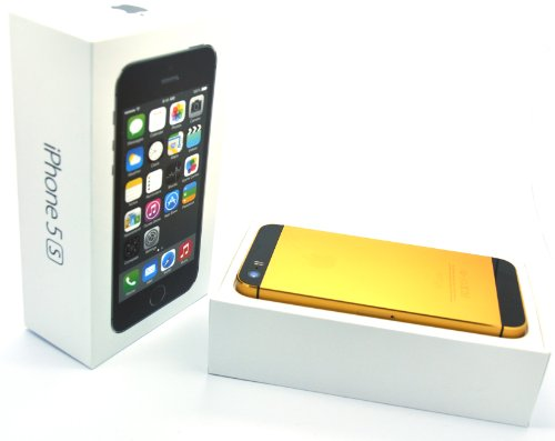 iColorLCD discount duty free Apple Iphone 5s - 64gb 24k Gold Plated/ Gold and Black/ Factory Unlocked/ International