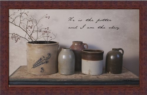 he-is-the-potter-and-i-am-the-clay-by-billy-jacob-country-rustic-crocks-framed-art-print-wall-decor