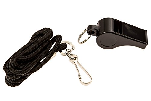 BLARIX Lifeguard Pea Whistle and Lanyard (Black and Black) (Whistle With Pea compare prices)