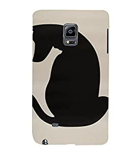 PrintVisa Animal Dog Design 3D Hard Polycarbonate Designer Back Case Cover for Samsung Galaxy Note Edge