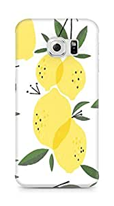 Amez designer printed 3d premium high quality back case cover for Samsung Galaxy S6 Edge (Neiko Ng Lemon Pattern)