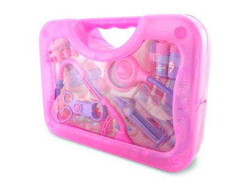 KStarz-Toys - Pink Medical Case - Includes 15 medical pieces Measures 26.5cm's x 19.5cm's x 7.5cm's