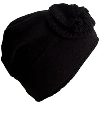 Frost Hats M-91 BLACK Winter Hat for Women and Girls Slouchy Beanie Warm Hat Ski Beanie Frost Hats