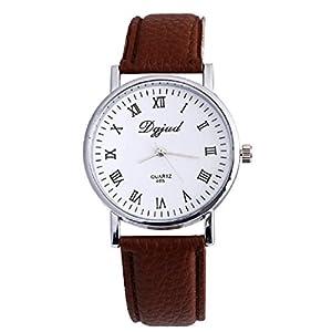 Luxury Neutral Faux Leather Sport Watch Analog Quartz Wrist Watch New