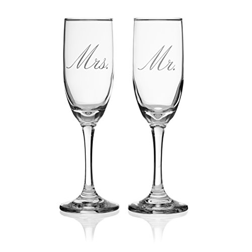 Mr & Mrs Champagne flutes, toasting glasses great for wedding gift