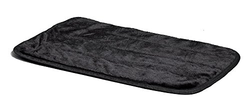 MidWest Quiet Time Pet Bed Deluxe Black Fur Pet Mat 21″ x 14″