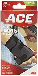 ACE Deluxe Wrist Brace, Right, Large/Extra Large