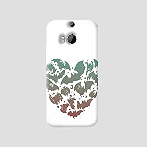 The Fappy Store bat heart hard plastic back case cover for htc one m8