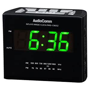 オーディオコム AM/FMクロックラジオAudioComm RAD-C865Z(07-3865)