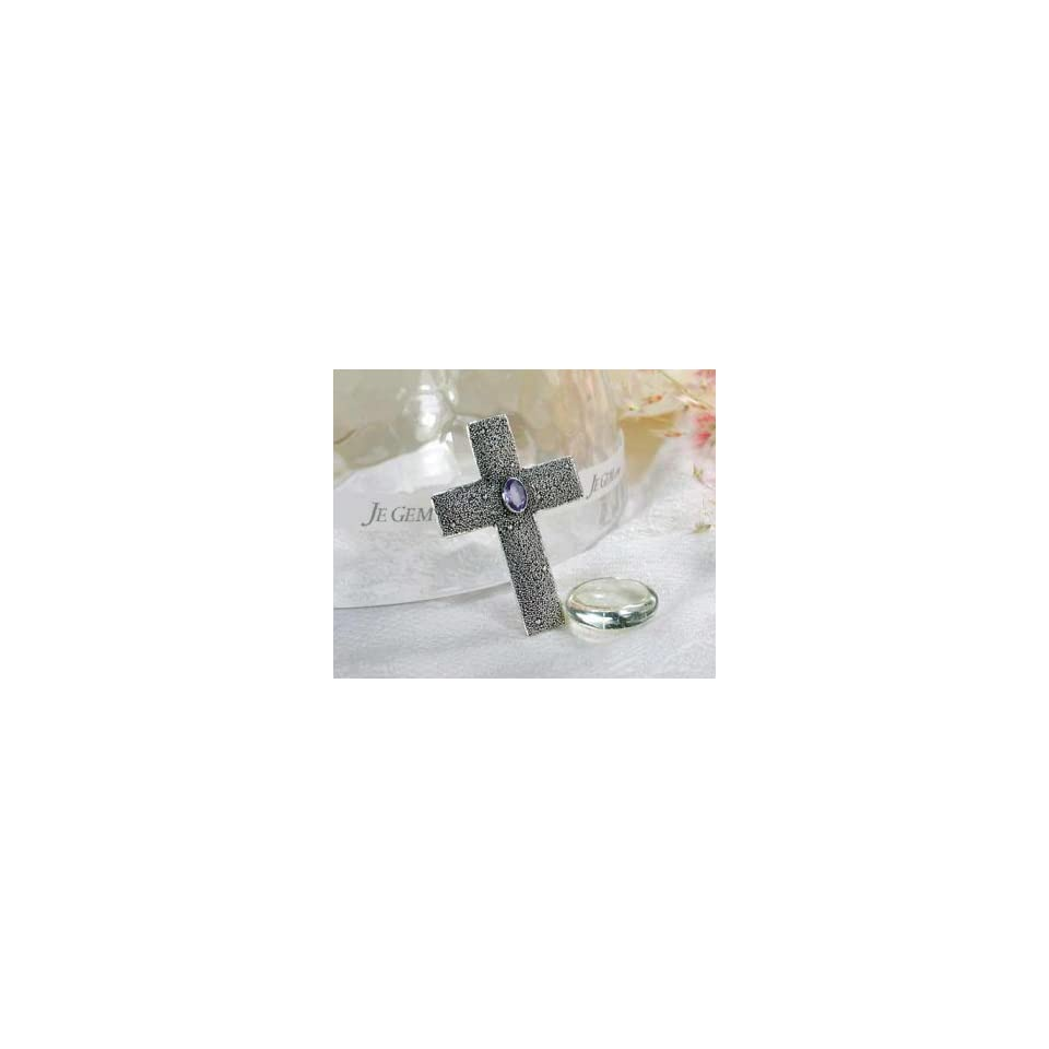 Completely Handcrafted   Designer Sterling Silver African Amethyst Cross Pendant