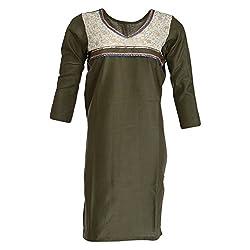 AKS Lucknow Women's Blended Regular Fit Kurti