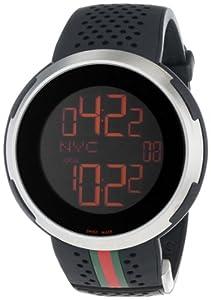 Gucci Men's YA114103 I-Gucci Digital Black Rubber Strap Watch