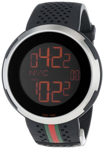 Gucci Men's YA114103 I-Gucci Digital Black Rubber Strap Watch