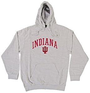 Buy Indiana Hoosiers Genuine Stuff Grey Fleece Pullover Hoodie (Size Large) by Genuine Stuff
