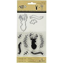 Momenta 25883 N/A Stamp & Die Set-Deer/Twig/Banner
