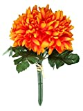 Fourwalls 27 cm tall Synthetic Chrysanthemum Flower Bunch (10 Flowers, Cream)