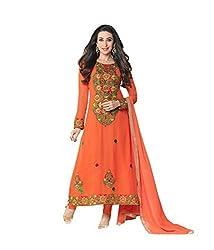 StarMart Beautiful Georgette Long Anarkali Un-stitched Salwar Kameez -5112