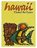 img - for World Travel Poster United Airlines Hawaii Fish & Tiki 9 inch by 12 inch book / textbook / text book