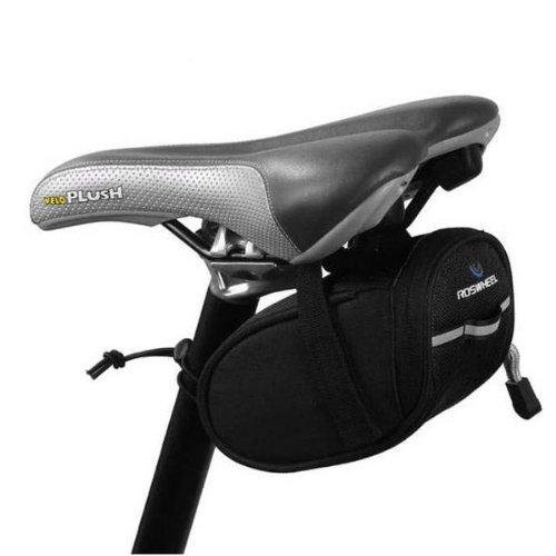 Foxnovo Portable Bike Cycling Bicycle Saddle Bag Reflective Trim Seat / Saddle Bag For Cycling (Bike / Bicycle) (Black) front-460296