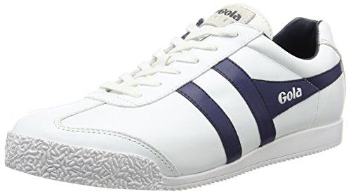 GolaHarrier Leather - Scarpe Sportive Outdoor uomo , Bianco (Bianco (White/Navy)), 44