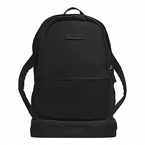 Coach F93372 Varick 17 Inch All Black Nylon Packable Daypack/Backpack