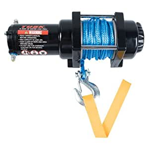 tusk winch with synthetic rope 3500 lb automotive