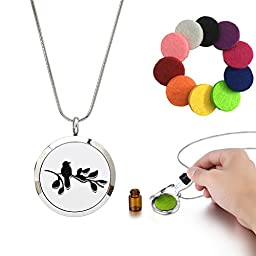 Aromatherapy Necklace Essential Oil Diffuser Pendant Hypoallergenic Material Made 24\