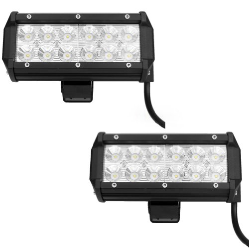 """Nilight 2 Pcs 36W 6.5"""" 2 Rows 12X3W Cree Led 6500K Led Work Lamp Off Road Atv Floodlight Super Bright For Jeep Cabin/Boat/Suv/Truck/Car/Atvs"""